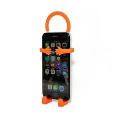 New Bondi Hang it On Silicon Flexible Mount Smartphone Cell Phone Holder Orange