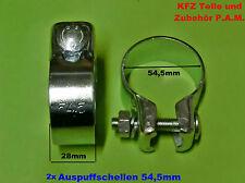 2x Abrazadera De Tubo Escape 54,5mm Conector