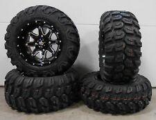 "STI HD4 Black 12"" ATV Wheels 23"" Ceros Tires Polaris RZR 170 Honda Recon"