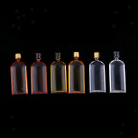 6 Pieces Miniature Colorful Whisky Bottles for 1/12 Dolls House Accessories