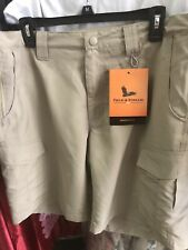 Field & Stream Harbor Fishing Shorts Men's Large Khaki