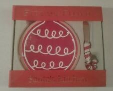 Fitz & Floyd 2005 Christmas Cookie Treat Plate & Candy Cane Spreader Set NEW