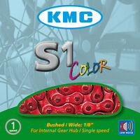 KMC S1 Coloured Chain All Colours For Single Speed Cycling
