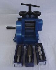 """New Jewelers Combination Rolling Mill 3"""" Diameter And Extra Rollers Gold Smith"""