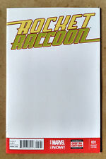 ROCKET RACCOON #1 BLANK VARIANT 1ST PRINT MARVEL (2014) GUARDIANS OF THE GALAXY