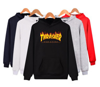 Thrasher Men Women Hoodie Sweater Hip-hop Skateboard Sweatshirts Pullover Coats
