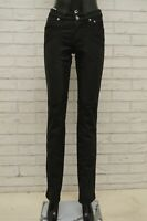 Pantalone JECKERSON Donna Taglia Size 25 Pants Jeans Woman Cotone Nero Slim Fit