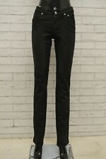 Jeans da uomo in pelle ad altezza coscia Fit atrocemente LUSSO pants pantaloni