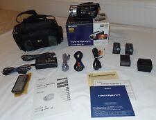 Sony HDR-SR1 30GB HD 1080 Camcorder NightShot Remote AC AV Cables + EXTRAS