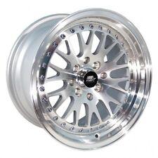 MST MT10 16x8 5x100/5x114.3 +20  Silver w/Machined Face Wheels (Set of 4) New