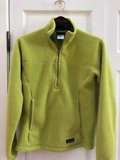 136. Patagonia Women's S Lime Green Synchilla Marsupial Fleece 1/2 Zip Jacket