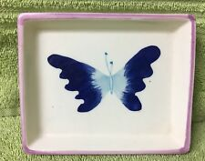 Handpainted Porcelain Butterfly Soap Dish by Pic