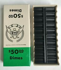 Vintage Lonson Coin Box $50 Dimes Holder Improved Mankato Deluxe No. 3 Dime
