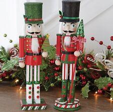"NEW!~RAZ Imports~15"" Wooden Nutcracker~Set of 2~Christmas Decor/Ornament/Soldier"