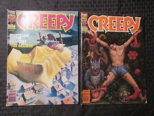 1981 CREEPY Warren Horror Magazine LOT of 2 Issues #126 VF- 127 FVF Ken Kelly