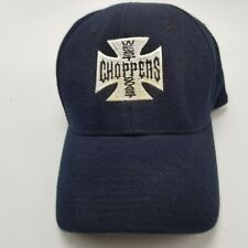 West Coast Choppers Hat Cap Black Flexfit Fitted S to M Used Adult B4