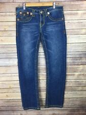 TRUE RELIGION JOHNNY SUPER T JEANS Flap Pocket Medium Blue Denim Pants Women 27