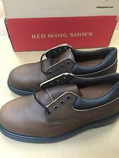 NEW* RED WING Men's Oxford BROWN LEATHER SHOES MADE IN USA 4407 SIZE 9EEE