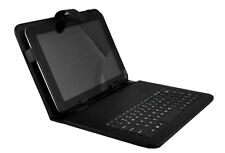"UNIVERSAL 10"" ANDROID TABLET KEYBOARD WITH FOLDING STAND MICRO USB KEYBOARD CASE"