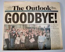 """""""THE OUTLOOK"""" A COPLEY L.A. NEWSPAPER SANTA MONICA FINAL ISSUE GOODBYE 3-14-1998"""