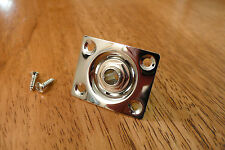 INPUT OUPUT JACK AND PLATE CHROME SQUARE FOR ELECTRIC GUITAR
