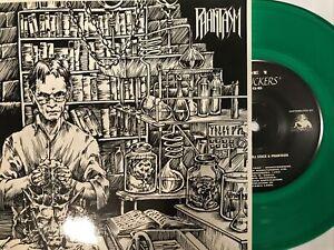 "Phantasm – Gut Suckers / Sewed Back To Life 7"" GREEN Vinyl 1995 Death Trap"