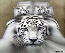 3d Tiger Doona Duvet Quilt Covers Set Queen Size Bedding Pillow Cases Animal