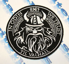 MORALE PATCH IN ODIN WE TRUST TIL VALHALLA VIKINGS MAD MAX EMBROIDERED