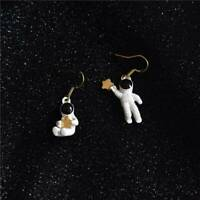 Fashion Cute Star Asymmetrical Astronaut Stud Earrings Women Jewelry Gifts b