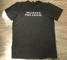 Starbucks Employee T-shirt Hello Free Coffee Medium Gray Used