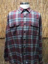 Vintage Herren Hemd Ralph Lauren Größe XL Rot Blau Blake 100% Baumwolle Lang Arm