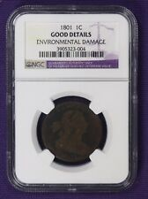 1801 G Good details Draped Bust Large Cent NGC