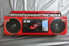 Vintage RED Aiwa CS-230 Band Radio Cassette Recorder Boombox