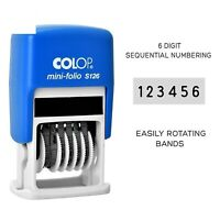 Colop S126 6 Digit Sequential Numbering Stamp Self Inking Rubber Stamp