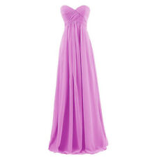 Long Prom Dresses Chiffon Strapless Formal Bridesmaid Gown Wedding Party Dress