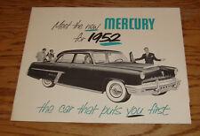 Original 1952 Mercury Full Line Foldout Sales Brochure 52 Monterey Special