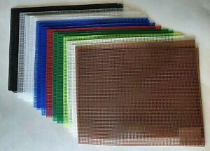 "Lot Of 20--7 Mesh Plastic Canvas Many Colors Sheets 10.5"" X 13.5"""