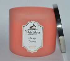 BATH & BODY WORKS MANGO COCONUT SCENTED CANDLE 3 WICK 14.5 OZ LARGE FROSTED