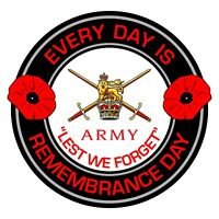 British Army Remembrance Day Inside Car Window Clear Cling Sticker