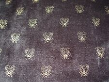 "~3 6/8 YDS~ VELVET BLACK~""ROYAL BEES"" VELVET UPHOLSTERY FABRIC FOR LESS~"