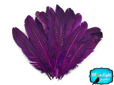 1/4 lb - PURPLE Polka Dot Guinea Fowl Wing quills Wholesale Feathers (bulk)