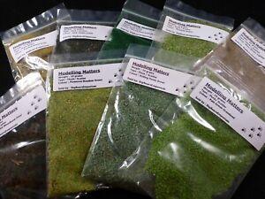 Scenic Terrain / Basing / Flock / Scatter - Green Grass & Grasses 15g / 10g Bags