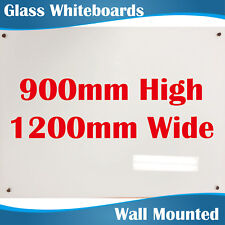 Magnetic Glass Whiteboard Whiteboards White Board 900mm highx1200mm wide