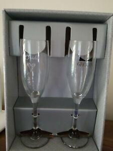 HBH Wedding Champagne Glasses Set Bride And Groom *NIB*