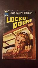 "Mary Roberts Rinehart, ""Locked Doors,"" 1951, Dell 4, VG,"