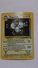 rare holographic magneton, fossil, pokemon, 11/62, english