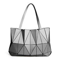 Japan Style Women Handbags Matte Geometry Laser Ladies Shoulder BagsFemale Tote