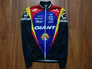GIANT RACE CYCLING SHIRT VINTAGE LONG SLEEVE SIZE 5