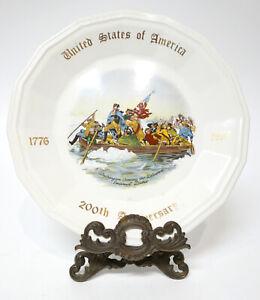 Washington Crossing the Delaware USA 200th Anniversary Plate Conrad Crafters