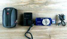 Sony Cyber Shot Indigo Blue DSC-W530 14.1MP Digital Camera,4GB SD card & usb cbl